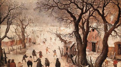 阿维坎普(1585—1634年)关于小冰期的风景画.